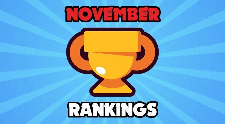 Brawlstars November Rankings