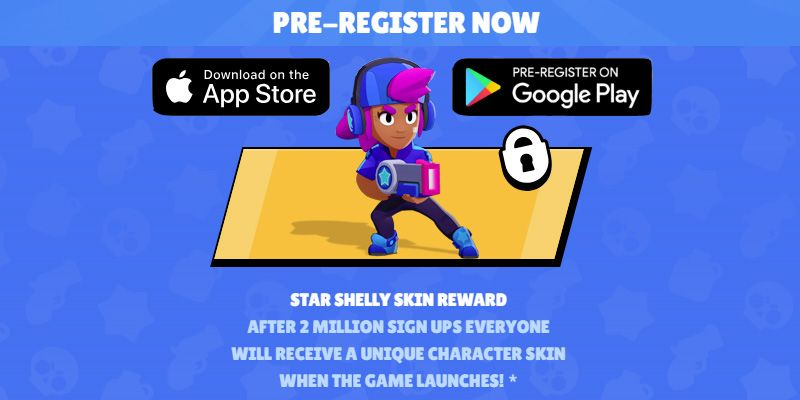 Pre-register for Brawl Stars to get a unique skin when the game launches